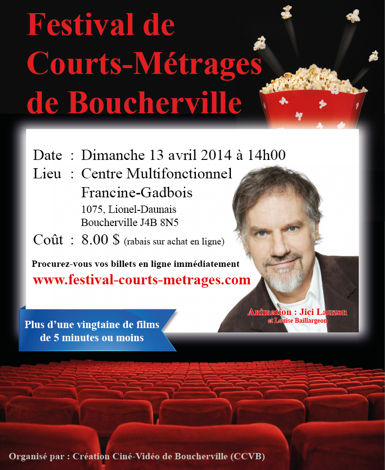 Affiche Festival de Courts-Métrages de Boucherville 2014 - Animation Jici Lauzon